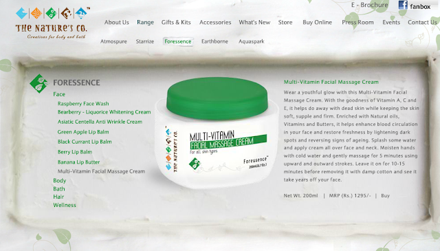 The Nature's Co: Multi-Vitamin Facial Massage Cream Review
