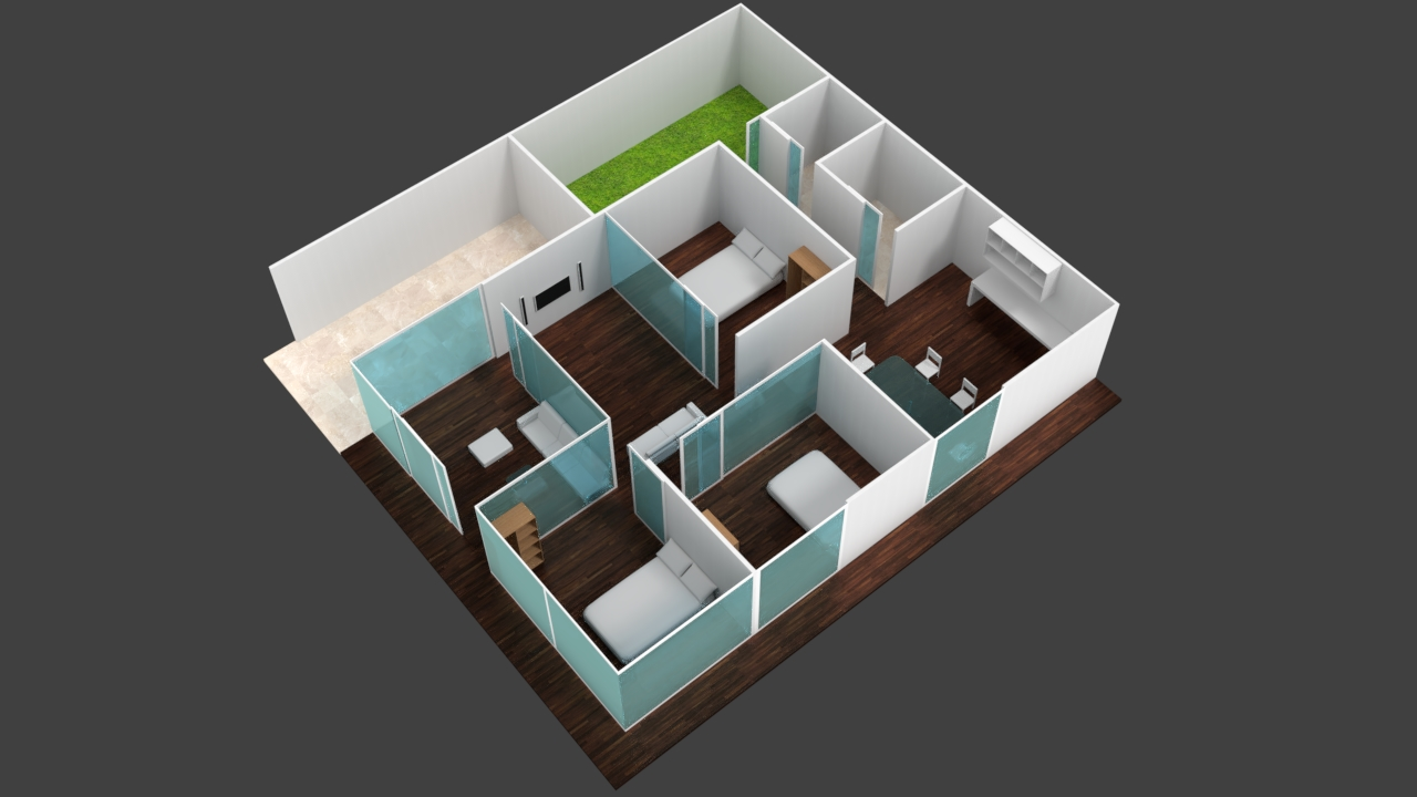 Free 3D Home Design Minimalist .blend