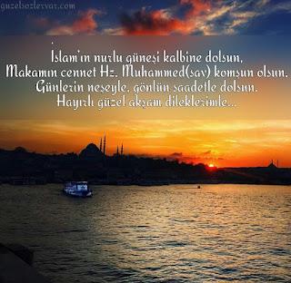 dini iyi akşamlar mesajı
