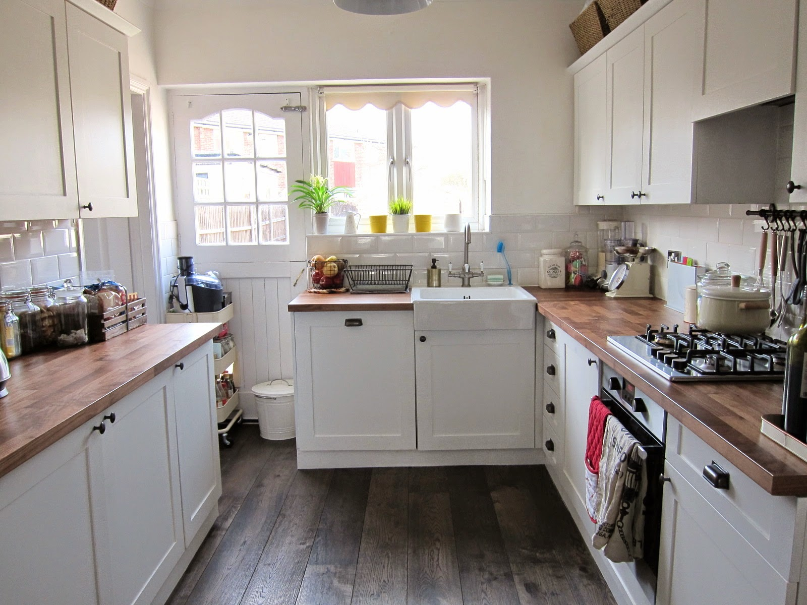 We Kept The Existing Layout Of Kitchen Cupboards Minus Doors Subway Wall Tiles And Garden Door Apart From That Everything Was