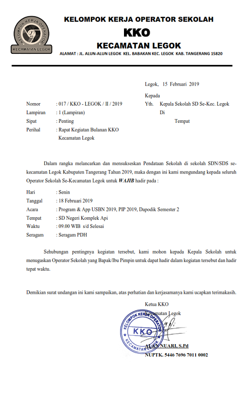 Rapat Bulan Februari 2019 Kko Kecamatan Legok Kko Kecamatan Legok b086055bba