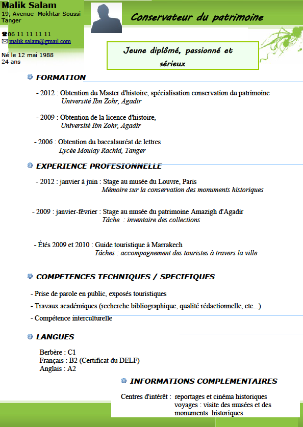 exemple cv traducteur edition