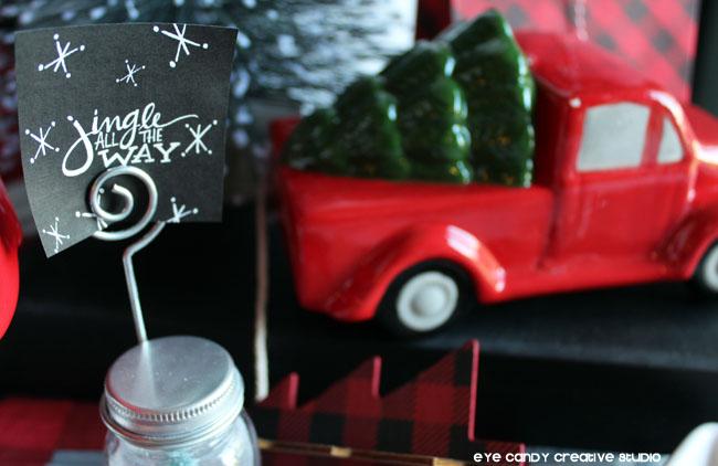 jingle all the way, christmas decor, christmas truck, free holiday print