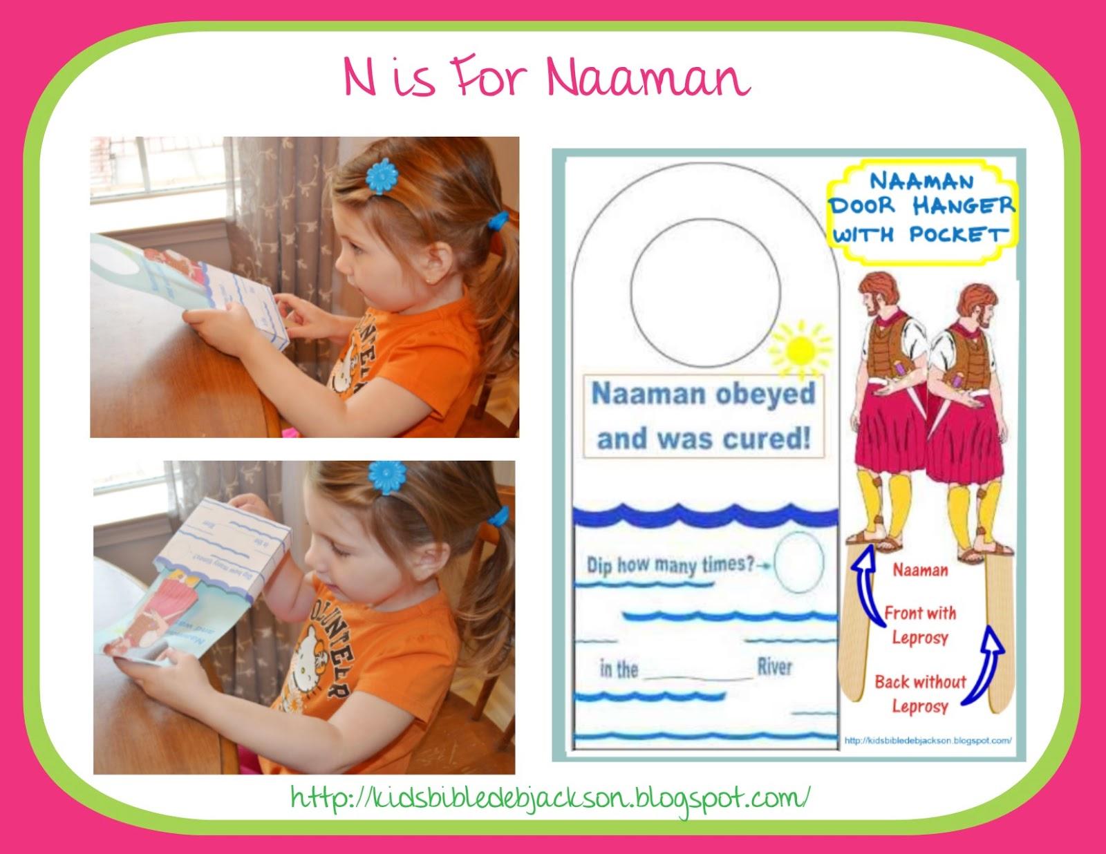 Bible Fun For Kids Preschool Alphabet N Is For Naaman