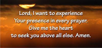 God's presence in prayers