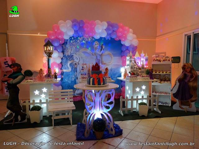Decoração Os Enrolados ou Rapunzel para festa infantil de meninas - Barra - RJ