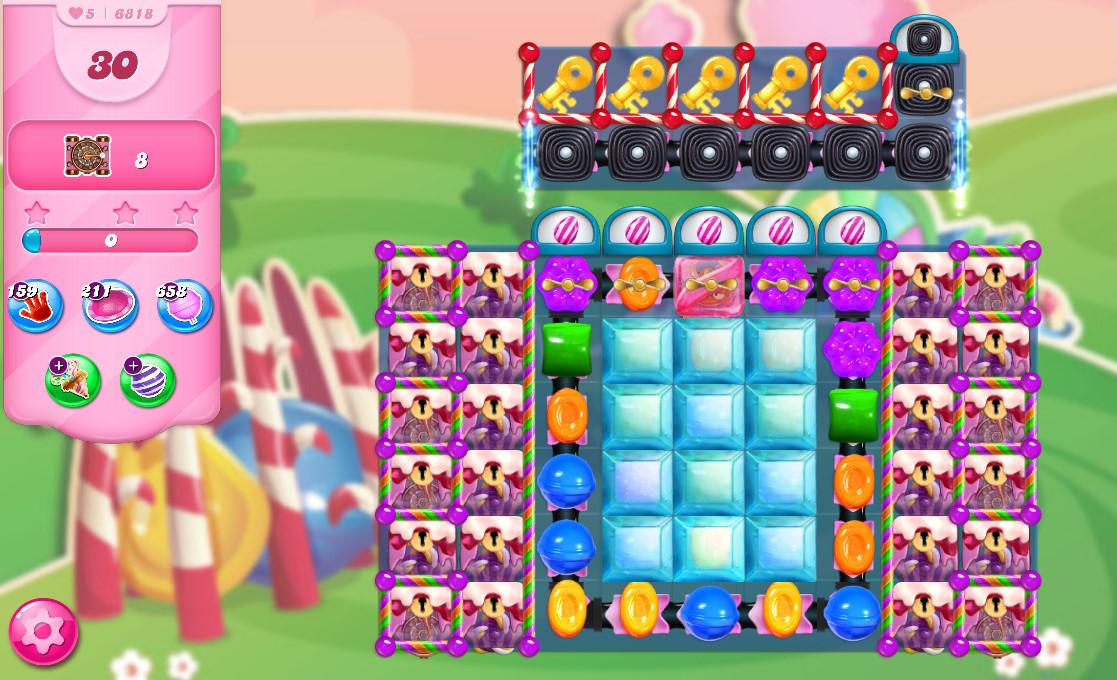 Candy Crush Saga level 6818