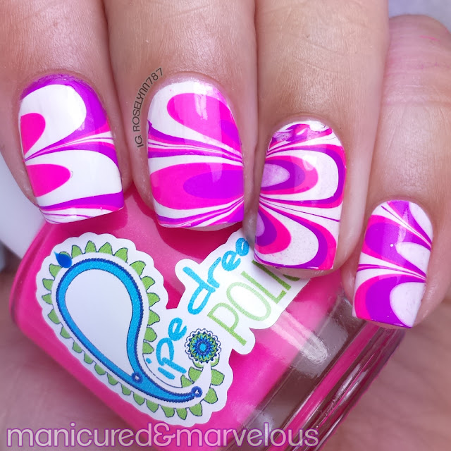 Challenge Your Nail Art & Bestie Watermarble