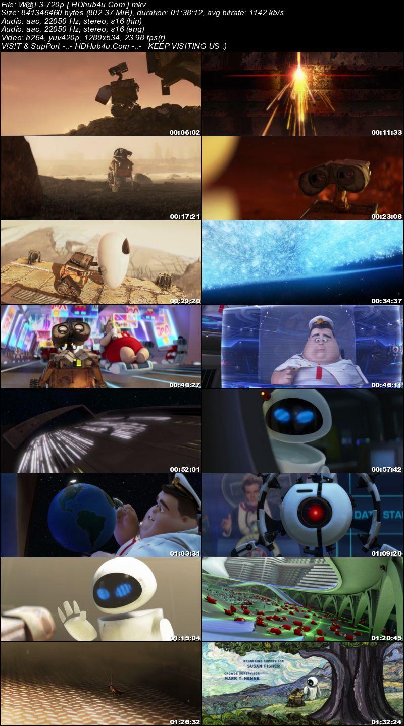 WALL-E 2008 Hindi Dual Audio 720p BluRay 800mb Download