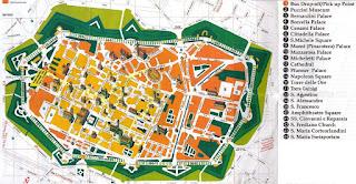 Mapa turístico de Lucca.