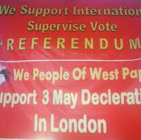 "Petisi ""Internationally Supervised Vote for West Papua"""