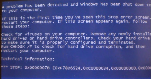 Technical Support and Solutions: BSOD Stop 0x0000007B Error