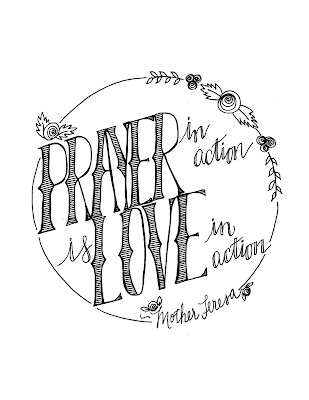 Look to Him and be Radiant: {More} Mother Teresa Quote