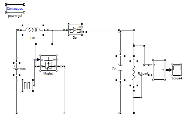 Circuit Diagram Boost Converter for Photovoltaic Cell