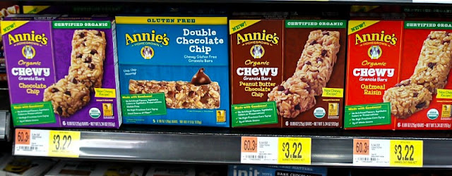 Annie's Bars - Annie's Organic Chewy Granola Bars, Chocolate Chip review @AnniesHomegrown #OrganicForEveryBunny @walmart