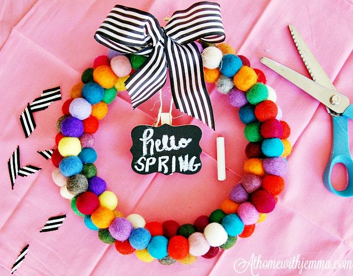 felt-pom-pom-colorful-wreath-spring-athomewithjemma