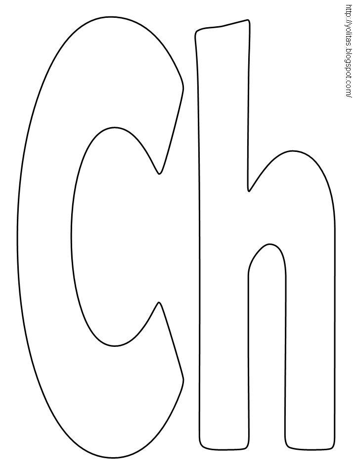 Yolitas Decoraciones: Letras para colorear y recortar
