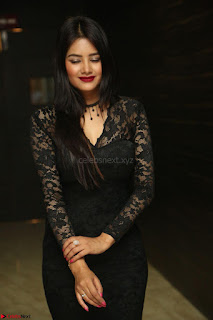 Actress Monica in spicy transparent Black Top at O Pilla Nee Valla Movie Audio Launch Feb 2017 140.JPG
