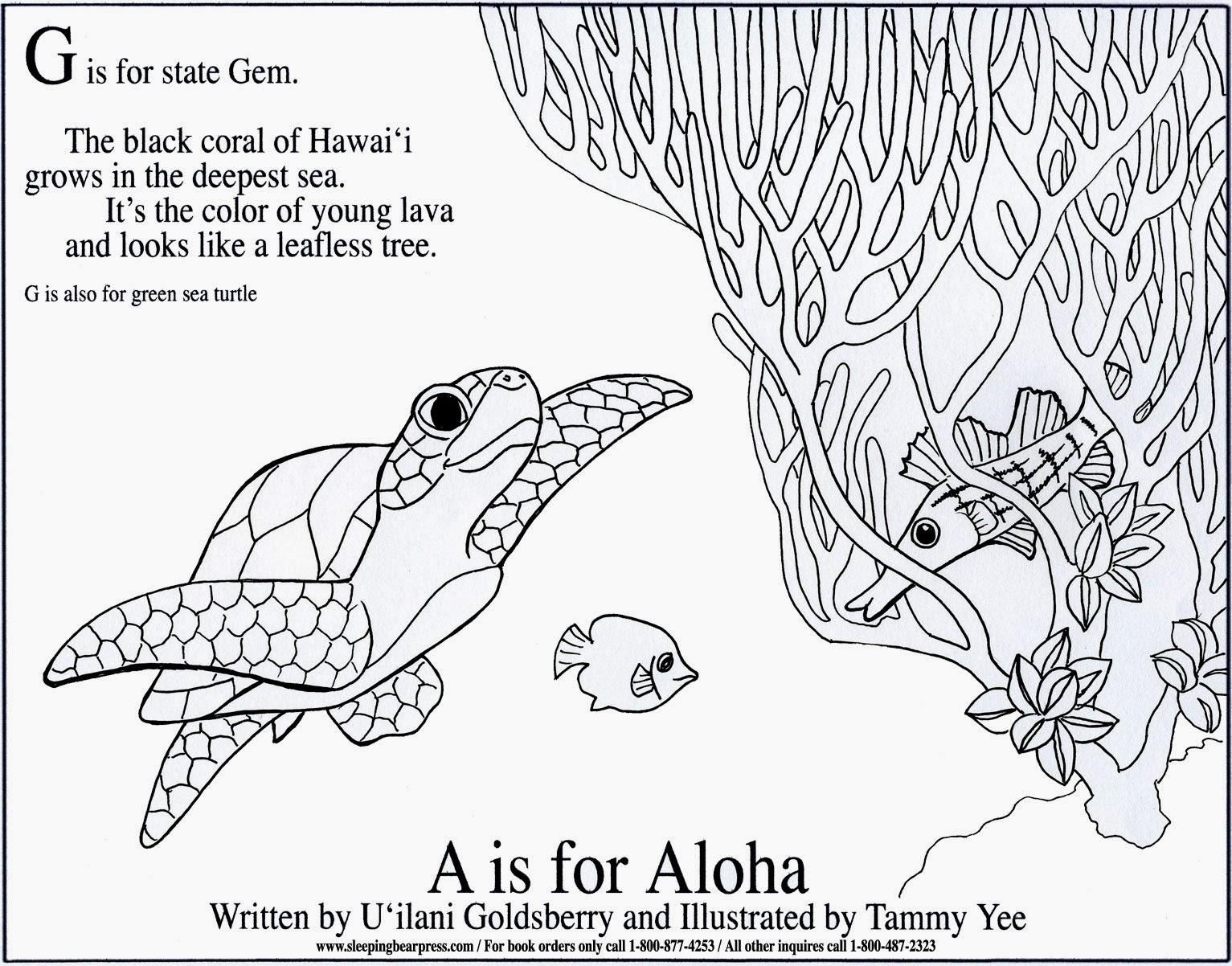 hawaiian coral reef coloring pages - photo#21