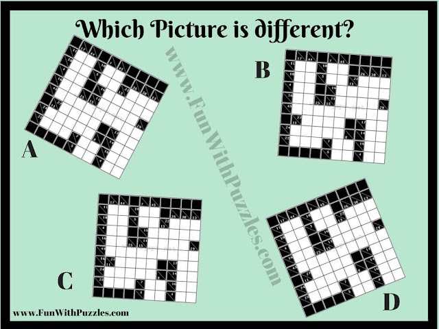 Printable Odd One Out Kakuro Picture Puzzle