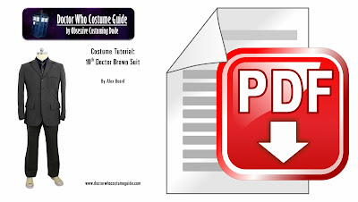 10th Doctor brown suit sewing tutorial PDF