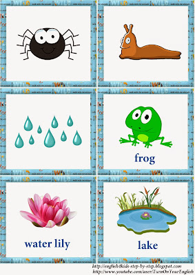 frog vocal flashcards addition vacabulary 1