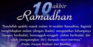 Amalan-Amalan 10 Hari Terakhir Ramadhan