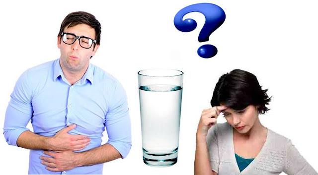 Mareos náuseas agua exceso