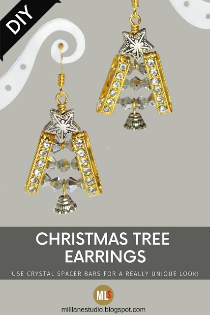 Christmas Tree earrings inspiration sheet.