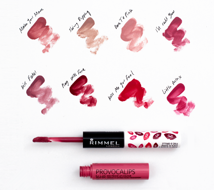 Rimmel Provocalips Review  Lip Swatches Video - Flip And -5754