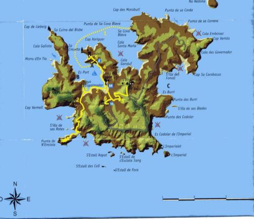 Isla De Cabrera Mapa.Islas Del Mundo Cabrera