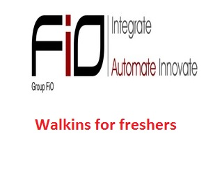 Group Fio India Pvt Ltd Walkin for fresher candidates on 8th to 31st August 2016