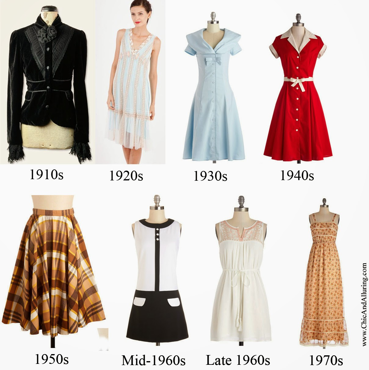 List Of Synonyms And Antonyms Of The Word Decades Clothing