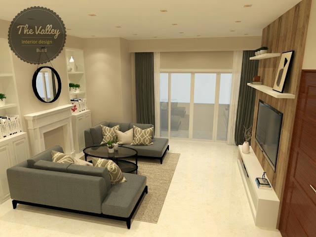 Desain Interior Ruang Keluarga Rumah Homy - The Valley Interior Design