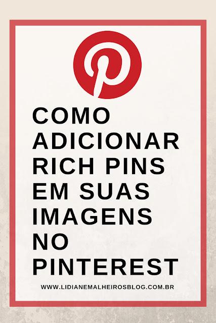 Como adicionar Rich Pins em suas imagens no Pinterest