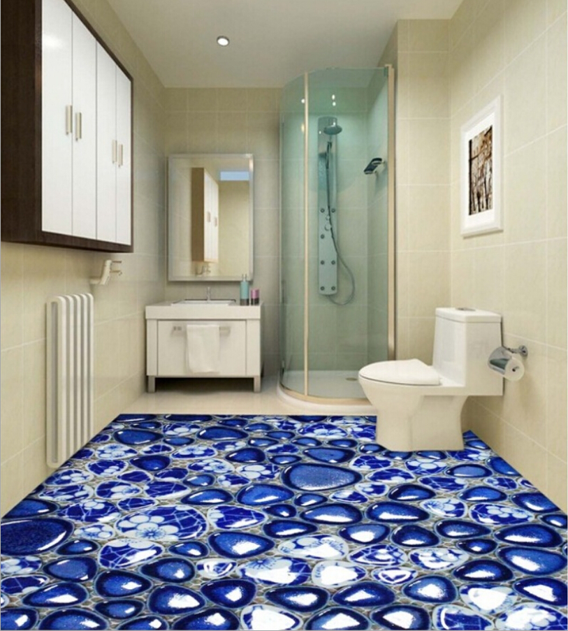 Self leveling 3d flooring installation guide 20 3d floor for Bathroom floor mural