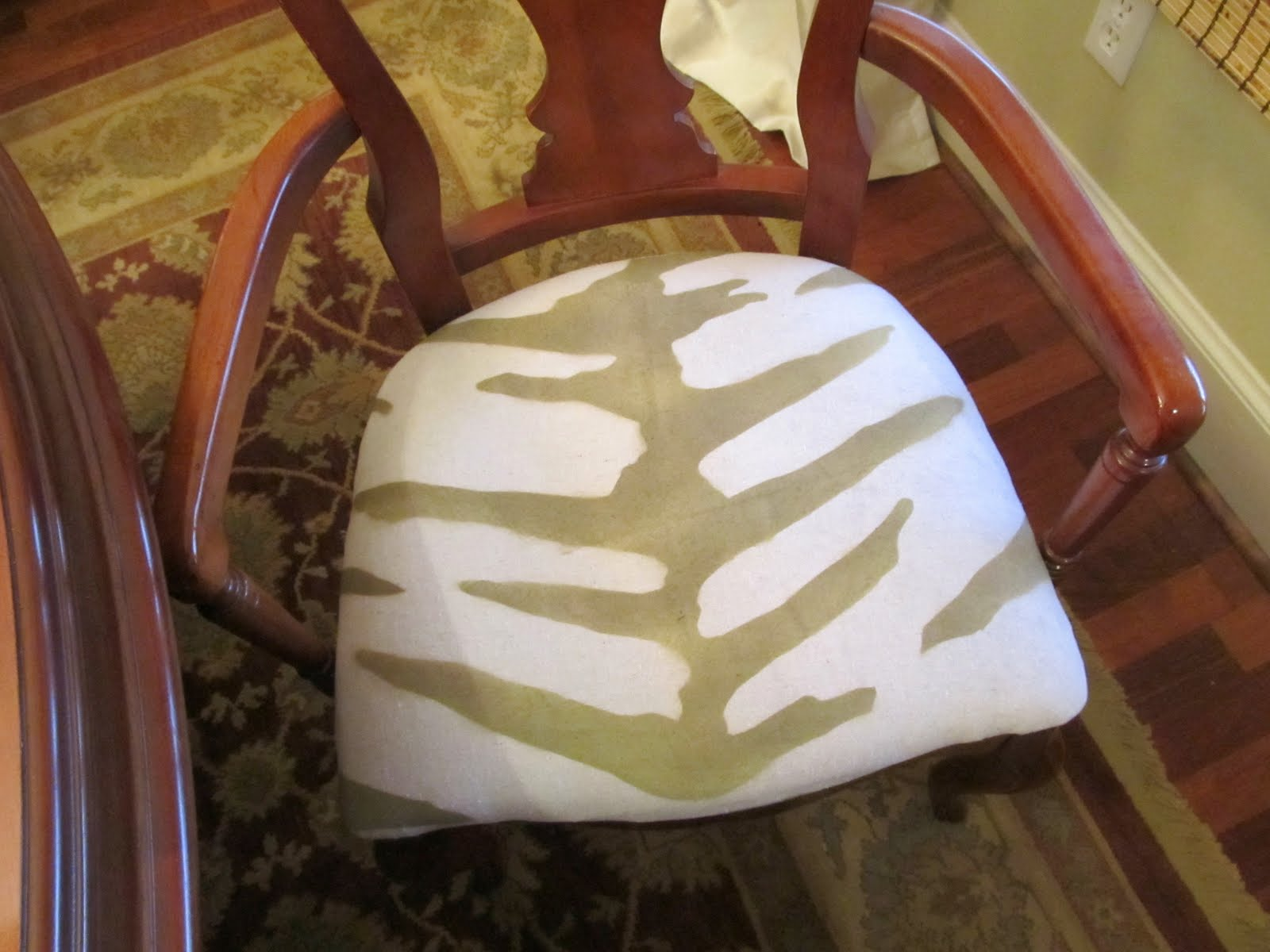 Cottage Hill: Hand Stenciled Zebra Print Fabric