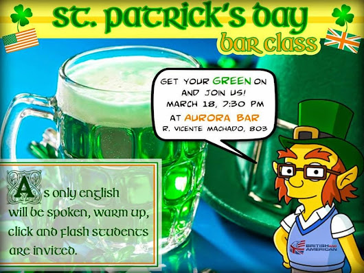 SAINT PATRICK'S DAY CELEBREYION! MARCH 18