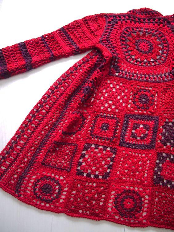 swetry z kwadratow
