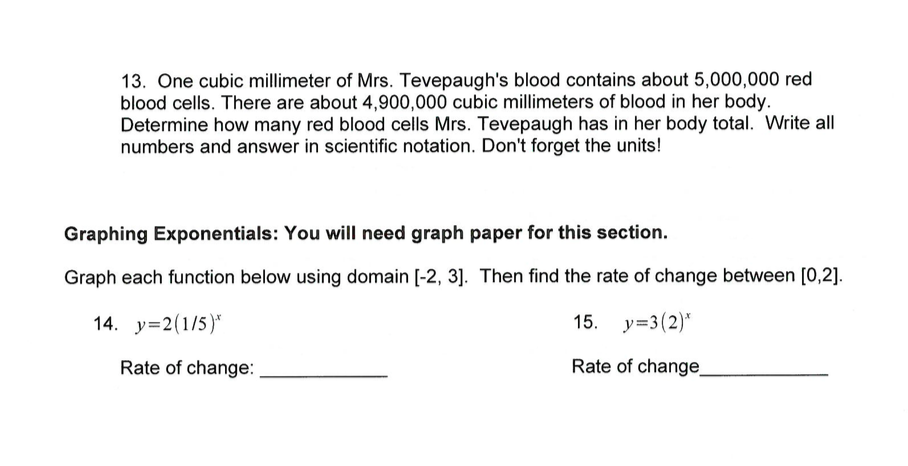 Math with Ms  Eringis : Review Sheet--Algebra Students for