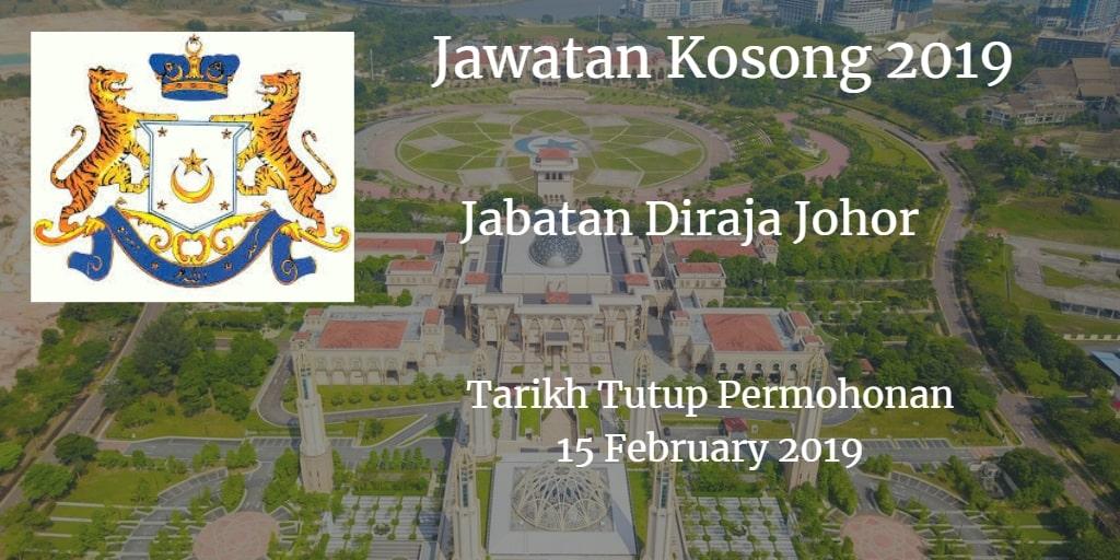Jawatan Kosong Jabatan Diraja Johor 15 February 2019
