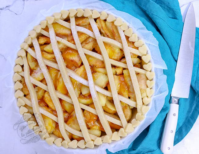 tarte aux pommes décorée