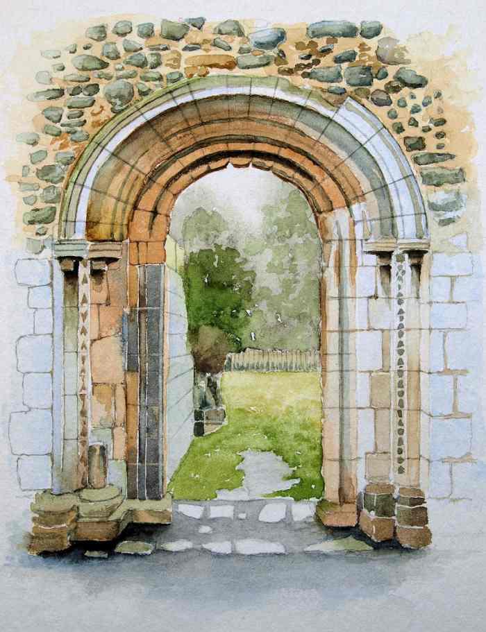 Британский художник-пейзажист. Erik Clewes