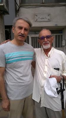 عکس از راست : رسول مهربان و مسعود بیزارگیتی
