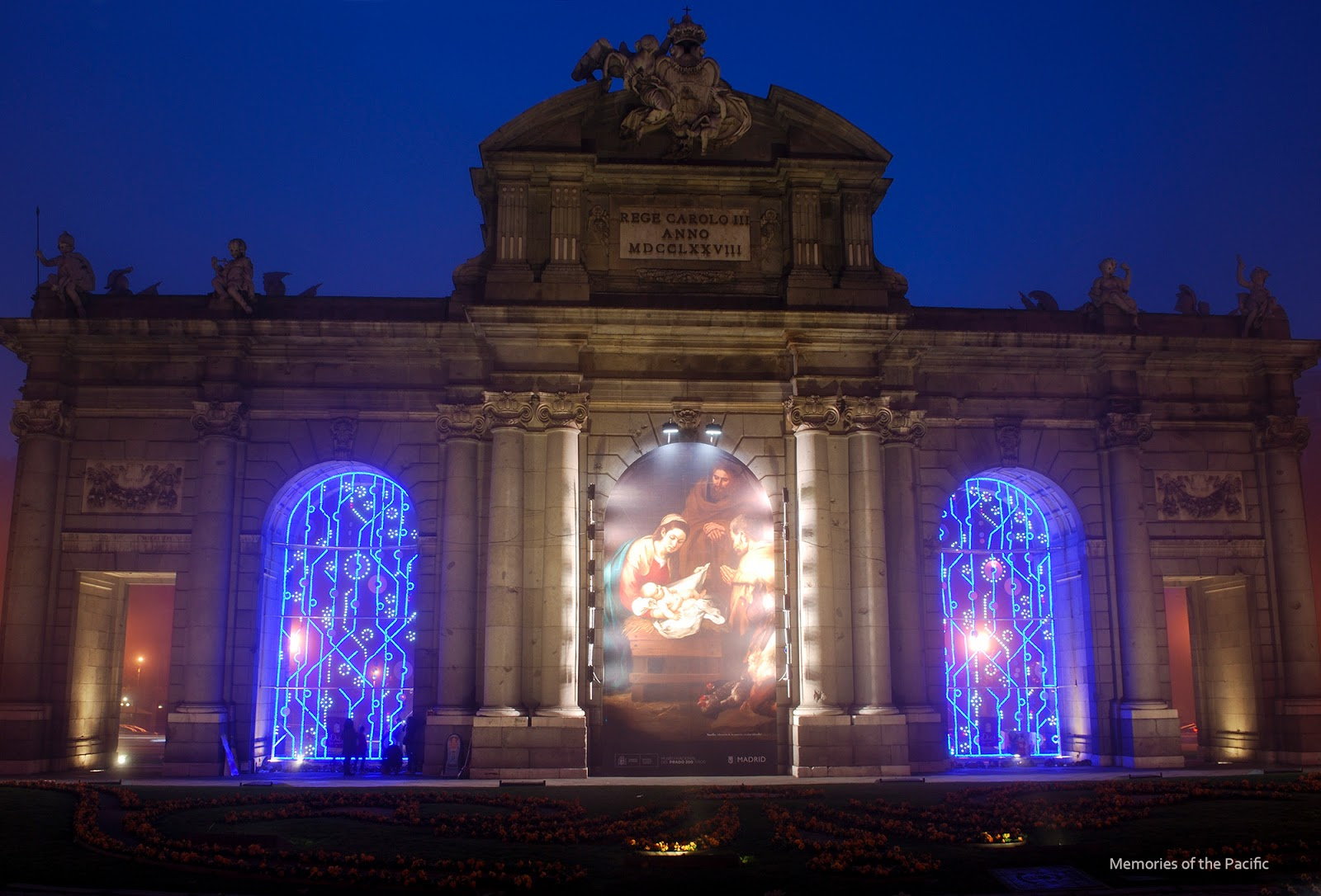 madrid christmas lights puerta alcala luces navidad