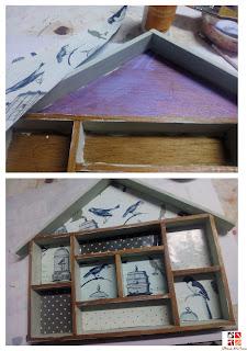 casita con compartimentos reciclada