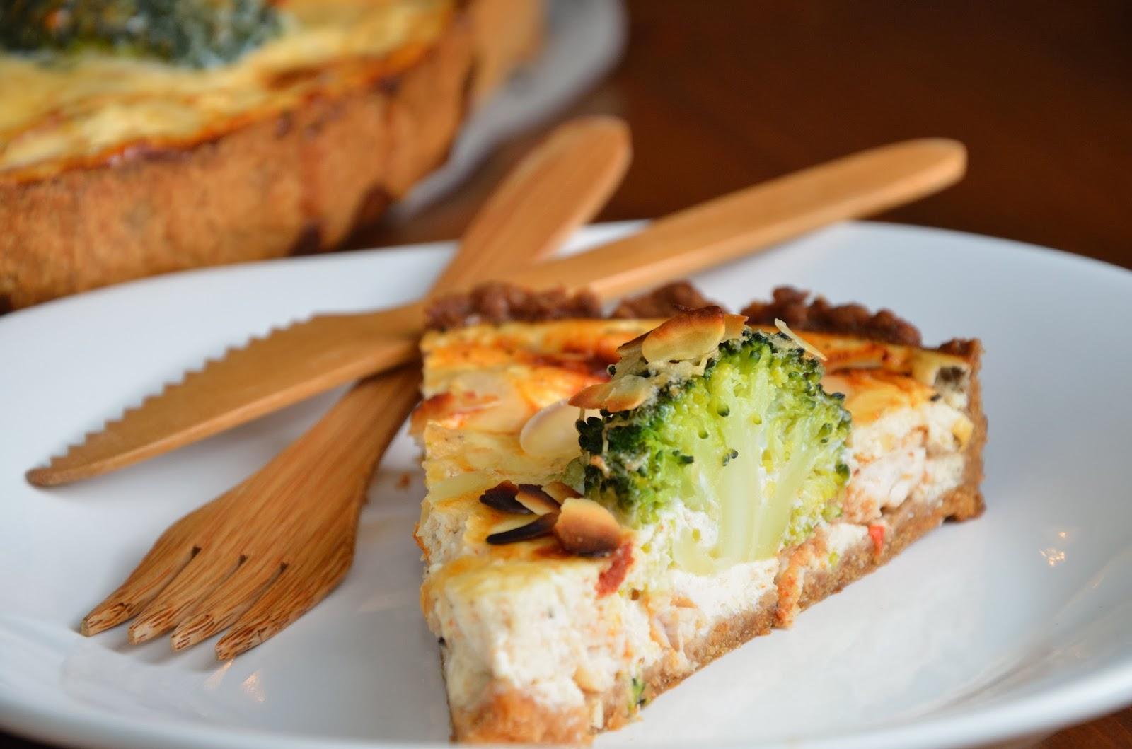 Tarta wytrawna / Quiche z brokułami i kurczakiem