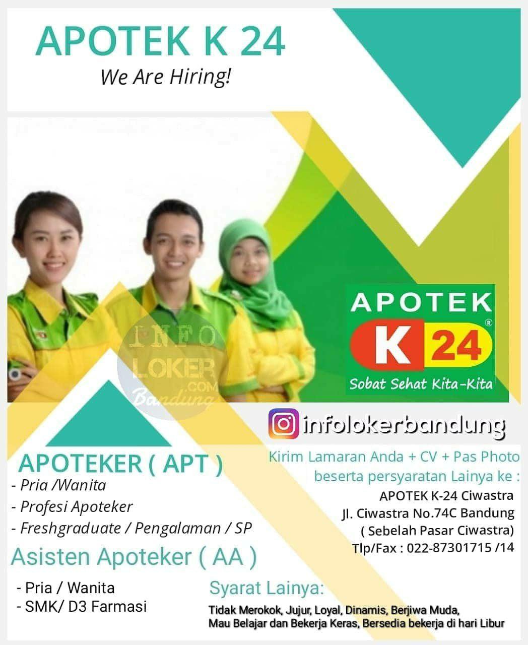 Lowongan Kerja Apotek K24 Bandung November 2018