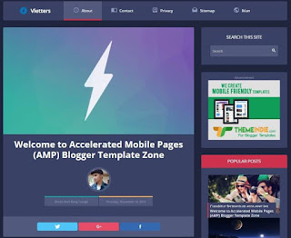 personal blog template,amp template