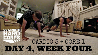 Day 4 Week Four 22 Minute Hard Corps Challenge, 22 Minute Hard Corps Cardio 3 Workout, Beachbody on Demand, Become a Beachbody Coach